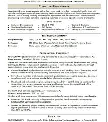 sample computer programmer resume developer programmer resume sample template computer software photos