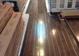 prefinished dark stained maple