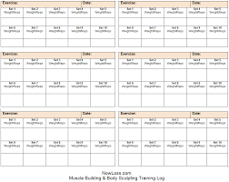 training diary template