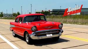 Test Driving 1957 Chevy Bel Air 383 Stroker V8 Restomod - YouTube