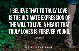 Truly Love Quotes Amazing I Believe That To Truly Love Is The Ultimate Expression Of The Will
