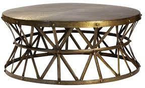 round industrial coffee table. Impressive On Round Industrial Coffee Table Bruce Hammered Steel Cocktail