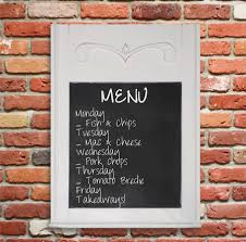 Chalkboard Menu Board Home Dzine Craft Ideas Make A Chalkboard Menu Board