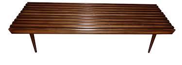 Slatted Coffee Table Mid Century Modern Danish Slat Coffee Table Bench Chairish
