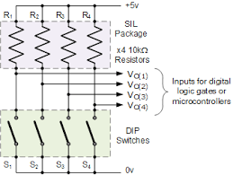 input interfacing circuits connect to the real world dip switch input interfacing