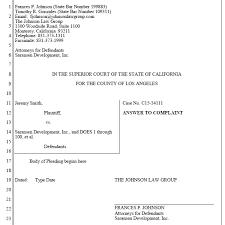 Sample Civil Complaint Form Extraordinary CalPleadings California Pleading Templates For Word Word Automation