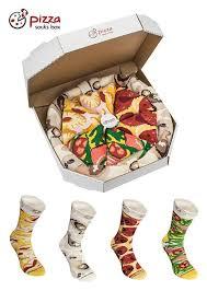 pizza socks box 4 pairs mix hawaii italian pepperoni cotton socks made in eu novelty