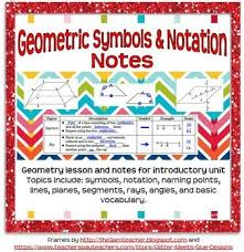 Grading tips for math teachers 🌟 give students clear guidelines. Geometric Symbols And Notation Guided Notes For Geometry Geometric Symbols Geometry Lessons Guided Notes