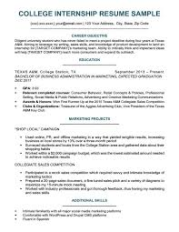 Creative Marketing Resume College Student Resume Sample Writing Tips Resume Companion