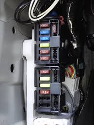 guide to fitting an auto dimming rear view mirror glove box replace the fuse block on its mount tidy away the cables