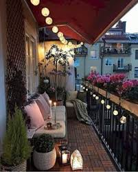 Balcony lighting Ceiling Nice 40 Awesome Apartment Balcony Design Ideas More At Httpshomystyle Pinterest 15 Small Balcony Lighting Ideas Balcony Decoration Ideas