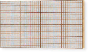 Orange Seamless Millimeter Paper Background Tiling Graph Grid Texture Empty Lined Pattern Wood Print