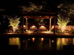 classic outdoor pool area ideas with patio lighting ideas with led lamps decoration