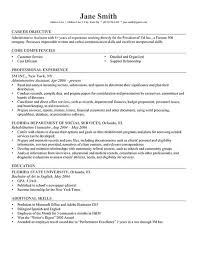 Examples Of Resumes Objectives Hospinoiseworksco Samples Of Resume