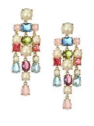 kate spade new york crystal chandelier earrings multi women s all jewelry dangle drop kate