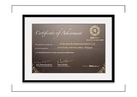 Honorable Mention Certificate Certificate Of Honorable Mention Organo Naandi