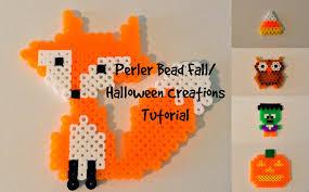 Halloween Perler Bead Patterns Delectable Perler Bead FallHalloween Creations Tutorial YouTube