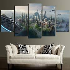 on star wars canvas panel wall art with millennium falcon star wars canvas panel wall art panelwallart