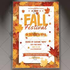 Fall Festival Flier Fall Festival Premium Flyer Psd Template