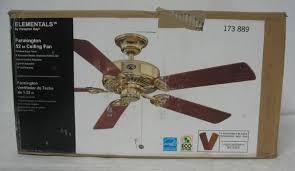 new hampton bay 52 farmington ceiling fan 173889 brass