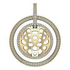 i1 h real diamond circle pendant for