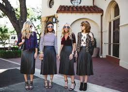 four ways to wear a pleated leather midi skirt