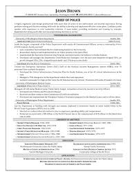 Chief Of Police Resume Examples Free Resume Example And Writing