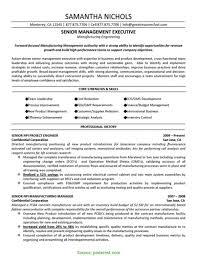Simple Management Resume Examples 2015 Senior Executive
