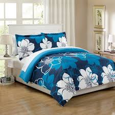 chic home 7 piece celosia blue bed in a bag duvet cover set