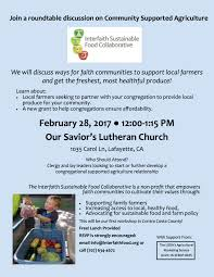 roundtable discussion on community supported agriculture