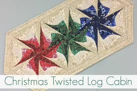 Twisted Log Cabin - Christmas Table Runner - Windy Moon Quilts & quilting classes reno. I Twisted Log Cabin Christmas Class Adamdwight.com