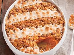 sweet potato casserole with marshmallows paula deen. Wonderful Deen Cornflake Pecan And MarshmallowTopped Sweet Potato Casser On Casserole With Marshmallows Paula Deen