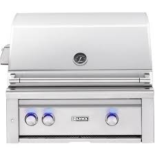 lynx professional 30 inch built in natural gas grill with one infrared trident burner and rotisserie l30tr ng bbqguys