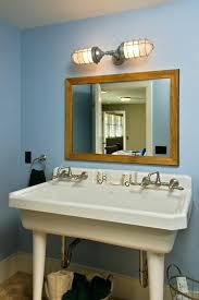 bathroom mirror lighting fixtures. Cool Industrial Vanity Light Fixtures Bathroom Rustic With Double Sink Mirror Lighting Director