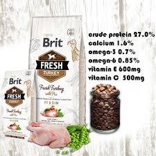 <b>Brit Fresh Turkey</b> with Pea Adult Fit & Slim (2.5kg) | Shopee Malaysia