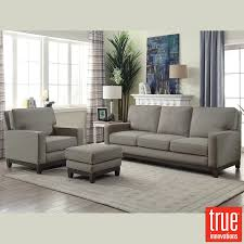 melinda grey fabric 3 seater sofa chair ottoman set