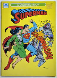 Easy and free to print superman coloring pages for children. Dc Comics Superman Coloring Book Golden Book 1989 Unused Ebay