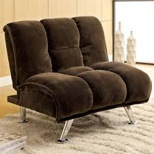 furniture of america edlee fabric futon chair in dark brown idf 2904db ch