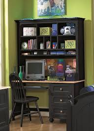 incroyable traditional computer desk and hutch black featuring shelves storage and black solid wood banquet