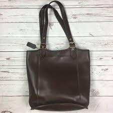 Brown Vintage Coach Large legacy bucket tote bag