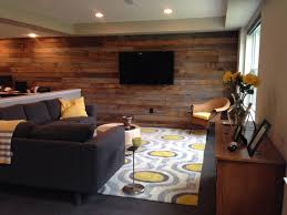 reclaimed wood office. Reclaimed Wood Adds Warmth And Character To A Large Basement Office Rec Room E