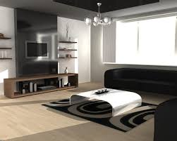 Black And White Decor For Bedroom Oak Flooring Monochrom Wall - Bedroom rug placement