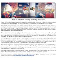 Are Vending Machines Profitable Extraordinary How To Shop For Candy Vending Machines
