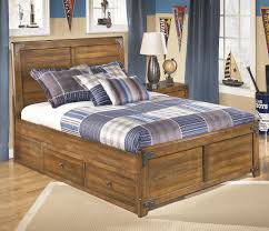 signature design by ashley cole full platform pedestal bed with