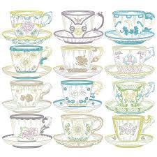 Vintage Embroidery Designs Machine Vintage Teacups Machine Embroidery Designs Vintage