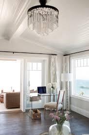 glass waterfall desk transitional bedroom owens and davis regarding contemporary home odeon chandelier restoration hardware decor