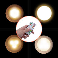 2019 Upgrade Litake Wireless Under Cabinet Lighting Remote Control Timer Led Puck Lights Dimmable Battery Powered