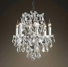 restoration hardware crystal chandelier ys prism rectangular crystal chandelier design