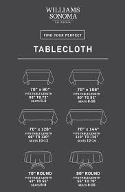 Napkin Size Chart Tablecloth Size Calculator The Thanksgiving Table
