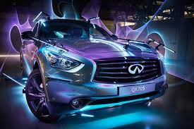 using cars as light painting tools to create images for infiniti motors
